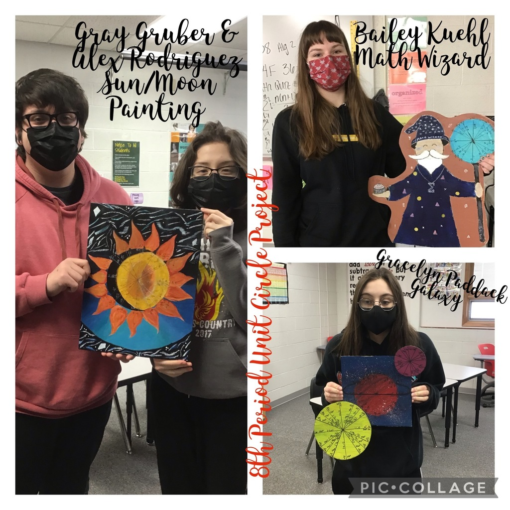 8th Period Unit Circle Projects