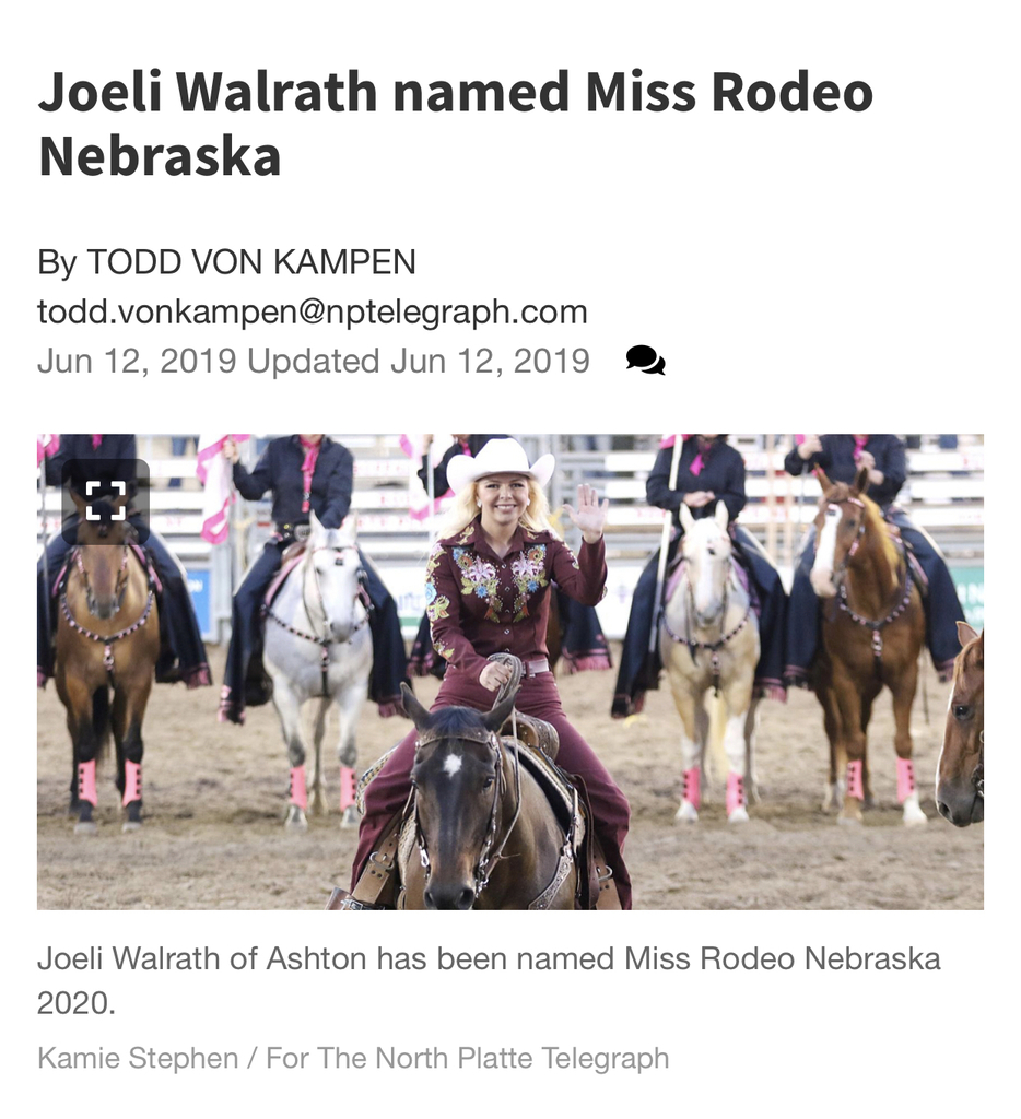 Congratulations to LC Alumni Joeli Walrath!
