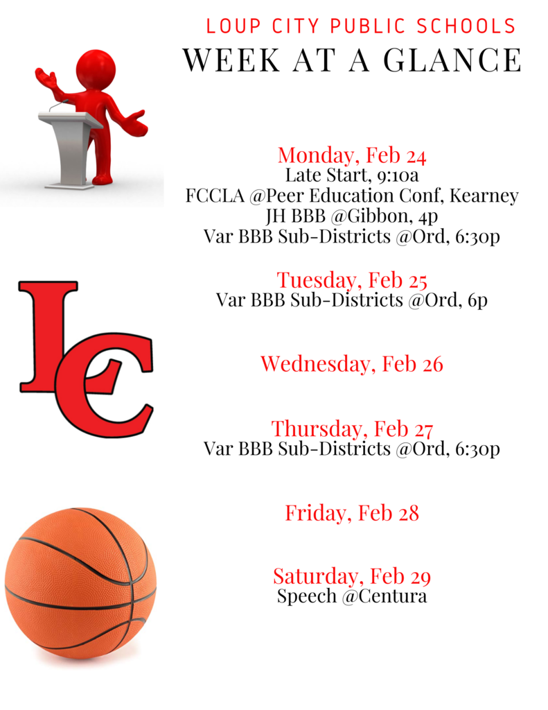 Week at a Glance Feb 24